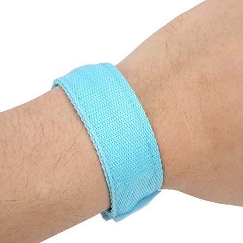 Wosune Brazalete LED, Brazalete Iluminado Que Mejora la Visibilidad y la Seguridad Correas de Gancho y Bucle para Deportes al Aire Libre para Fitness para protección Deportiva para(Blue)