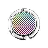 Tablero de ajedrez Multicolor Reflexión Colgador de Monedero Plegable Bolso de Mano Diseños únicos Sección Plegable Almacenamiento Colgador de Monedero Lindo