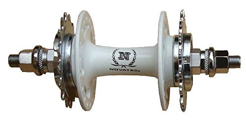 Novatec hinten Feste 16T/Feste 17T Flip Flop, Fixed Gear, Fixie, Track Hub a166sbt, A166sbt, weiß