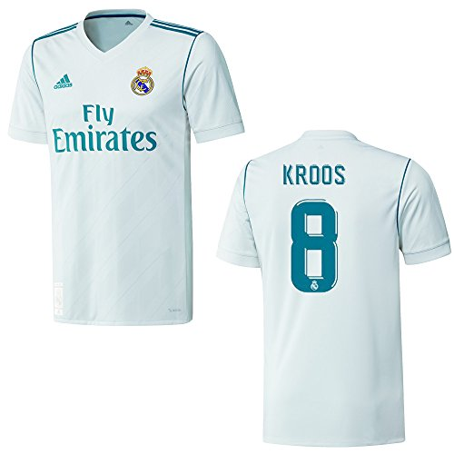 adidas REAL Madrid Trikot Home Herren 2018 - KROOS 8, Größe:XL