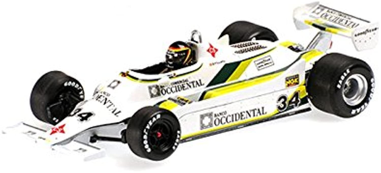 Minichamps 400800034scala 1  43  1980Williams Ford FW07Emilio de Villota Spanish GP replica modello giocattolo