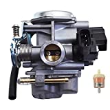 munirater Carburetor Carb Assembly Replacement for 2008-2019 Honda Ruckus NPS50 NPS 50 NPS50S Carb 16100-GGA-672 16046-GEV-003