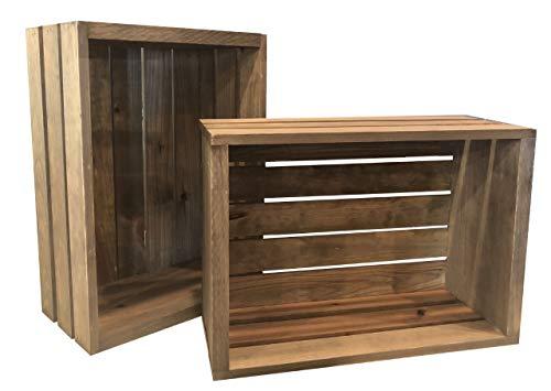 Rustic Wood Crates Set of 6