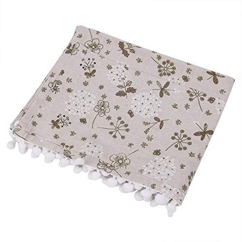 Eddwiin Protector de Cubierta a Prueba de Polvo de Lino de algodón Multiusos para Lavadora de frigorífico(55 * 130cm 51x21inch)