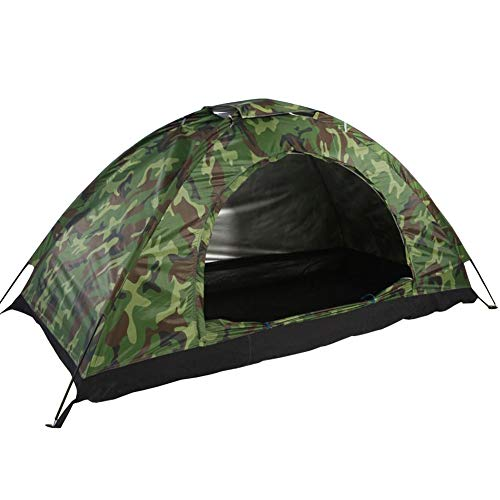 U`King Waterproof Camping Tent with Carry Bag Instant Setup One Person Lightweight Camouflage Tents for Camping Outdoor Hiking Backpacking Picnic