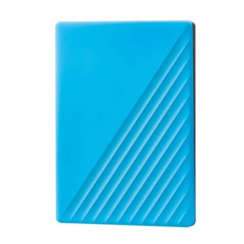 DXH Unidad de Disco Duro, Software de Copia de Seguridad Digital WD My Passport 1 TB 2 TB 4 TB 5 TB de Disco Duro Externo WD Disco Duro y la protección de contraseña (Color : Blue, Size : 2TB)