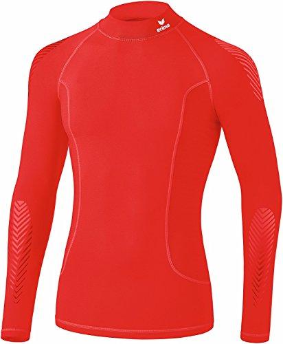 Erima - Longsleeve de Base avec Col Montant sous-Vêtements Fonctionnels - Mixte Adulte - Rouge (Rouge) - FR: M (Taille Fabricant: M)
