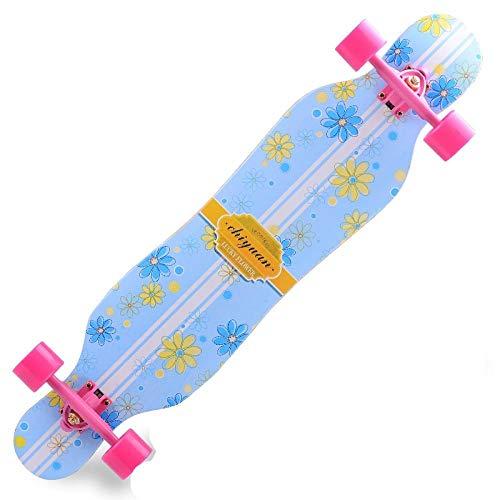 YSCYLY Skateboards Komplette,Road Dance Board Long Board,AnfäNger Erwachsene Teen Allrad Skateboard Skateboards