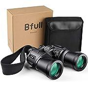 BFULL Fernglas 12x50 Ferngläser Robust Teleskop Wasserdicht Feldstecher für Erwachsene mit Tasche und Gurt [Vogelbeobachtung, Jagd, Safari Geräte]