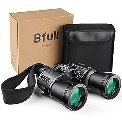 BFULL jumelles 12x50 jumelles robuste télescope étanche Pour adultes avec poche et sangle [Observation d'oiseaux, Chasse, Appareils Safari]