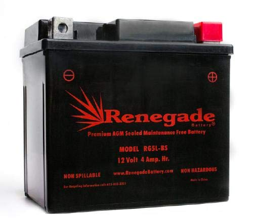 Scooter Battery; RG5L-BS; Beta 2016, 2017 300 RR (2-Stroke) / 300 RR Race Edition / 300 XTrainer / 250 RR Race Edition; Part# YTX5L-BS, ES5L-BS, PTX5LBS-FS, BTX5L-BS, CB5L-B