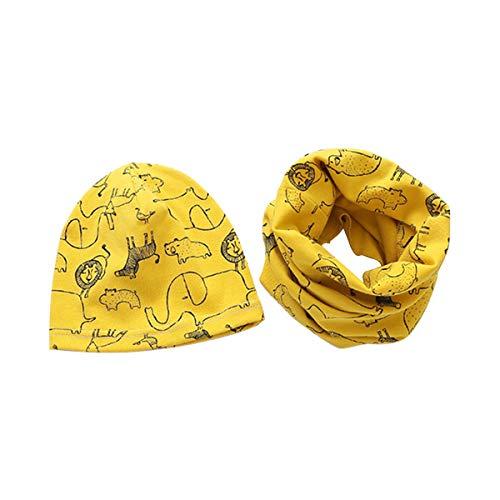 DEBAIJIA 0-6T Baby Beanie Hüte Schal Set Kleinkind Kopfbedeckung Halstuch Kinder Schlupfmütze Junge Nackenwärmer Winter Mädche -M