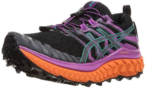 Asics Trabuco MAX, Zapatilla de Trail Running Mujer, Black/Digital Grape, 39.5 EU