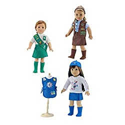 Girl Scout uniforms for 18 inch dolls-Daisy, Brownie and Junior all in one set