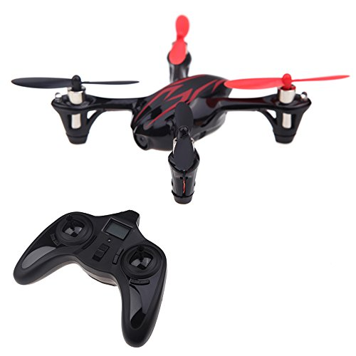 Hubsan X4 H107 Quadrocopter (2.4G 4CH RC) mehrfarbig Black+Red 0.3MP Camera