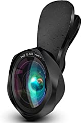 2 In 1 CAMERA LENS – The perfect combination to meet your need. 100° Wide Angle Lens & 15X Macro Lens help to capture valuable moments while on the move. Wide angle lens enables you to capture a wider range of view without distortion. Macro lens will...
