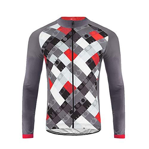 Uglyfrog Maillot Bicicleta Hombre Maillot Ciclismo con Mangas Largas con Bolsillos como Camiseta Interior en Invierno ZRML05
