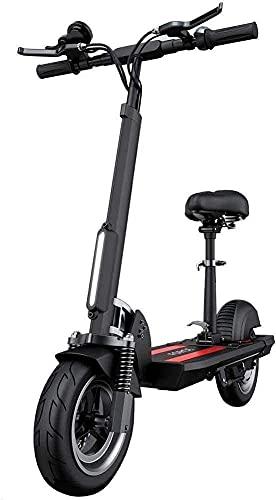 LLKK Scooters para adultos Scooter eléctrico con alto rendimiento de 34 Mph de velocidad superior plegable y portátil E-Scooter Soporte de control de crucero y carga USB