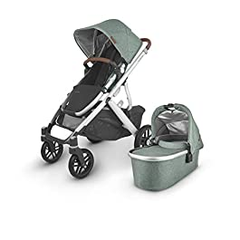 UPPAbaby VISTA V2 Stroller – EMMETT (green melange/silver/saddle leather)