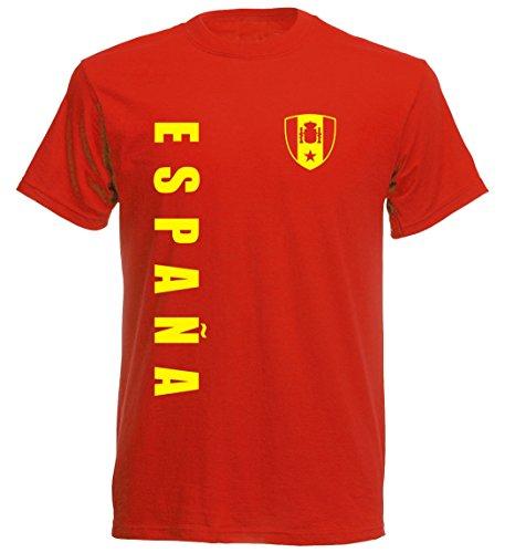 Spanien EM 2016 T-Shirt Trikot - S M L XL XXL - rot 10 (XXL)