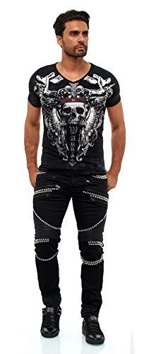 KINGZ Designer Jeans 1683-1 Black Std. Schwarz 33/34