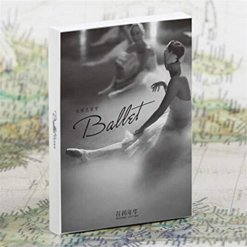 Airlove Ballett Mädchen Foto Vintage Postkarten für Kunst oder Druck mit Mailing Seite für Mailing Business Weihnachtsferien Geburtstag Postkarte