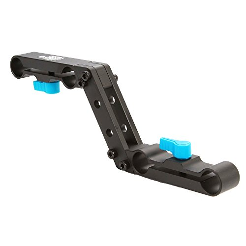 Fotga DP3000 Offset Raiser Z-Shape Railblock Clamp Mount Bracket for 15mm Standard Rail Rod Camera Rig Set Shoulder Rigs