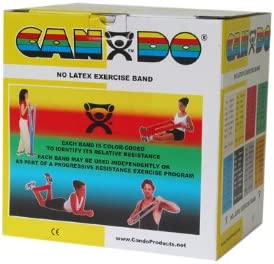 Fabrication Cando Max 83% OFF Latex In a popularity Free Exercise 50-Yard Dispenser-Bla Band