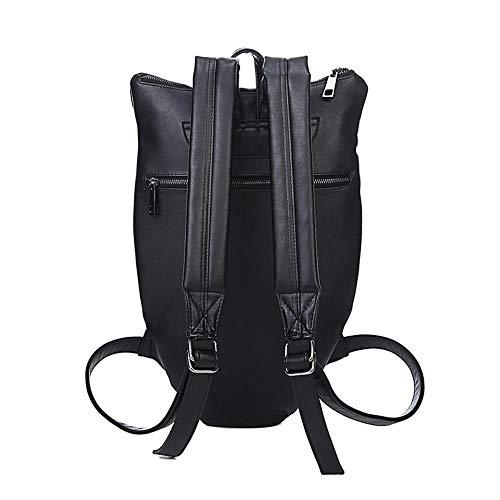 MBFAN 3D Owl Backpack Damen Schultertasche Messenger Bag Damen Rucksack Light Grey 19'
