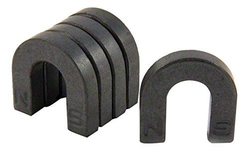 Magneet Expert Ferrite Horseshoe Magneet met Noord & Zuid Geïdentificeerd (30 x 30 x 7mm) (Pak van 5)