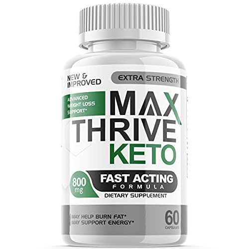 Max Thrive Keto Advanced Weight Management Support Ketosis Supplement Pills (1 Pack)