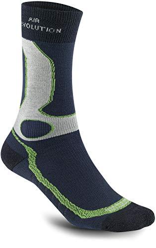 Meindl Damen Herren air Revolution Dry Outdoor & Funktions- Socken Marine/Mint, Größe:44-47 (L)
