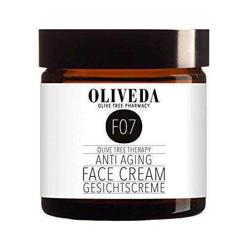 Oliveda F07 - Gesichtscreme mit Avocado-Öl | natürliches Anti-Aging Lift Creme + Anti-Falten + reduziert schlaffe Haut & Altersflecken + feuchtigkeitspendend mit organischen Inhaltsstoffen - 100 ml