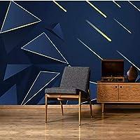 Iusasdz カスタム大壁画壁紙3Dミニマリストの幾何学的なラインゴールドトライアングルテレビ背景壁紙壁画400X280Cm