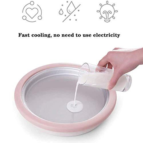 Hausgemachte DIY Fried EIS Joghurt, Joghurt gefroren Pfanne mit 2 Spachteln, Mini-Kinder Fried Eismaschine Nein Strom Need Einfach zu waschen und zu reinigen, for Zuhause, for Kinder plm46