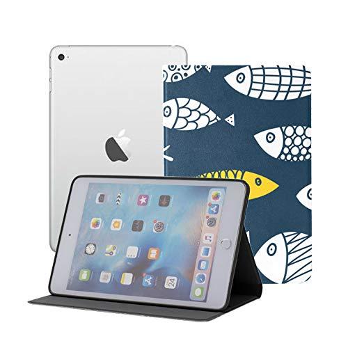IpadMini1/2/3Case Swimming Happy Fish Kids Friend IpadSmartFolioCase Ipad Mini 1/2/3 Auto Sleep/Wake with Multi-Angle Viewing for Ipad Mini 3/ Mini 2/ Mini 1