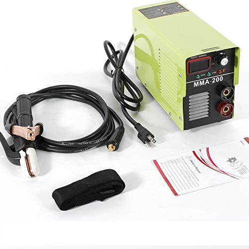 Welding Machine, MMA-200 Handheld Mini Electric Welder 110V/220V IGBT DC Inverter LED Display Welding Machine Tool 200 AMP Power ARC MMA (US Stock)