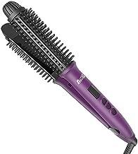 BERTA 3IN1 Hair Brush Iron Professional Hair Curling Iron&Hair Straightener&Hair Curler Brush Ceramic Hot Brush, Negative Ionic Dual Voltage for Travel