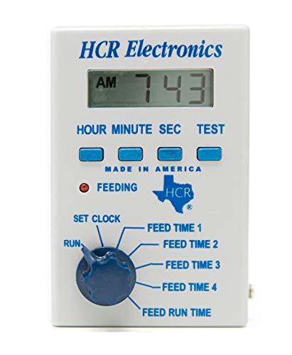 HCR Electronics Deer Feeder, Fish Feeder, Bird Feeder, and Game Feeder 12V Digital Timer for Deer Feed and Fish Feed - Features an Interval Timer for Corn Feed - Perfect for Your Hunting Feeder