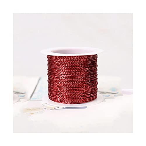 LSDJ QMDSH Cuerda de Envoltura de Regalo de 20m 1 mm con la Cuerda de la Cinta de satén para la Ropa de Bricolaje de la Boda Que Hace la Pulsera (Color : C)