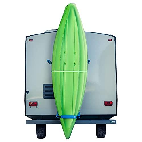RecPro RV Kayak Rack Vertiyak Hitch Mount Standing Kayak Carrier - Fits up to 12  Kayaks (Hitch Mount)