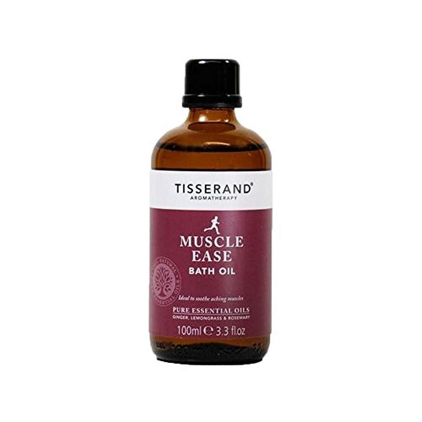 罹患率損失差Tisserand Muscle Ease Bath Oil 100ml (Pack of 6) - ティスランド筋肉やすバスオイル100ミリリットル x6 [並行輸入品]
