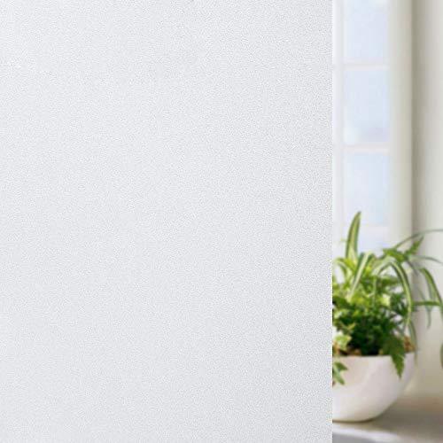 Alliebe Fensterfolie für Privatsphäre, selbstklebend, Milchglasabdeckung, für Badezimmer, blickdicht, Türaufkleber für Zuhause, Büro, Wohnzimmer (45 x 200 cm)