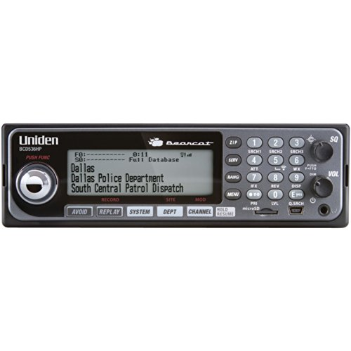 Uniden BCD536HP HomePatrol Series Digital Phase 2 Base/Mobile Scanner with HPDB and Wi-Fi. Simple Programming, TrunkTracker V, S.A.M.E. Emergency/Weather Alert. Covers USA and Canada.