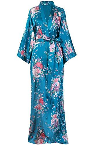 BABEYOND Womens Kimono Robe Long Floral Wedding Robes for Bridesmaids Kimono Nightgown Sleepwear Kimono Outfit 53