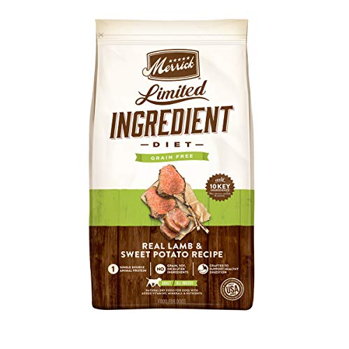 Merrick Limited Ingredient Diet Grain Free Dry Dog Food Real Lamb & Sweet Potato Recipe - 22.0 lb Bag