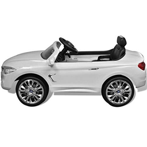 RC Kinderauto kaufen Kinderauto Bild 1: vidaXL Kinderauto mit Fernbedienung Weiß Kinderfahrzeug Elektroauto Cabriolet*