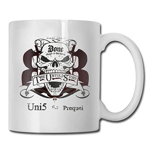 Taza de café divertida, taza de café de cerámica de hueso Thugs-n-Harmony para bebidas de té, blanco, 11 oz