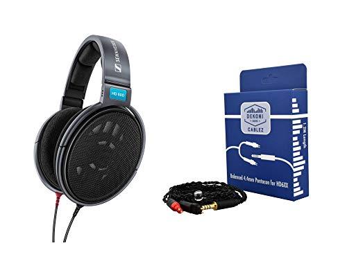 Digital DJ Gear Bundle for Sennheiser HD600 Headphones w/Dekoni Audio Balanced 4.4mm Pentacon Cable
