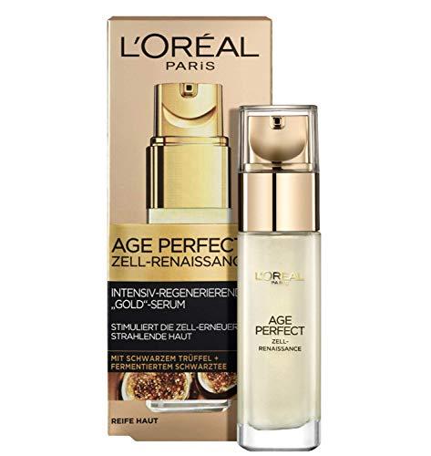 L'Oréal Paris Age Perfect Zell-Renaissance Anti-Aging Serum, Gesichtsserum mit schwarzem Trüffel und Schwarztee, verlängert die Hautvitalität reifer Haut, 30ml